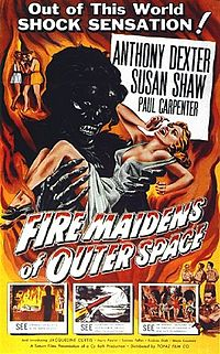 One-sheet for American release as Fire Maidens of Outer Space film poster by Albert Kallis