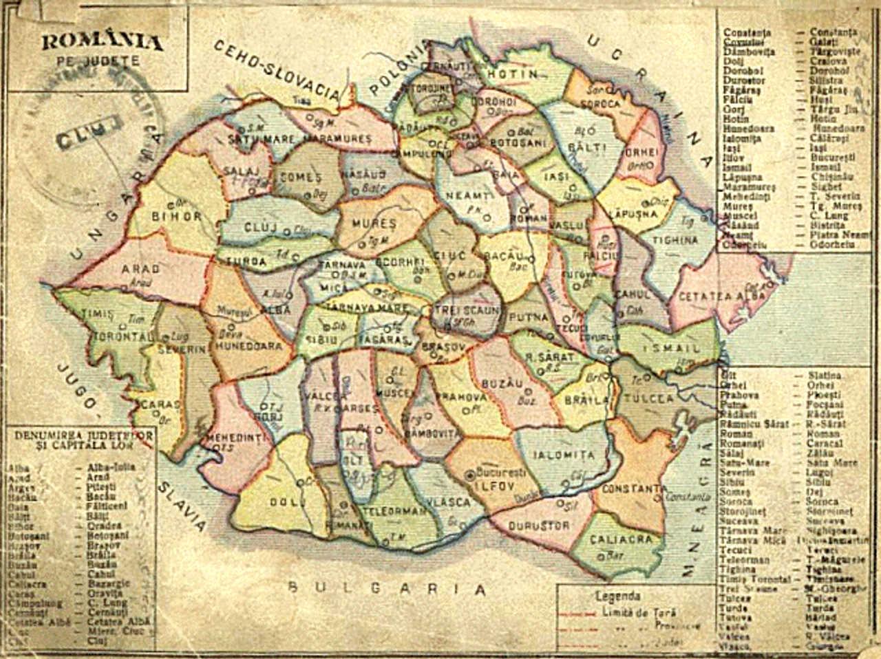 Fișier Hartă Romania Interbelică Jpg Wikipedia