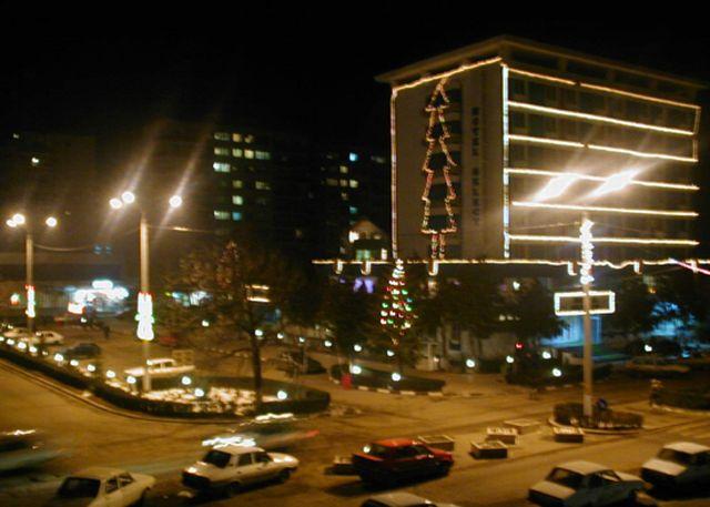 Fişier:Slobozia - Hotel Select (iarna, noaptea).jpg