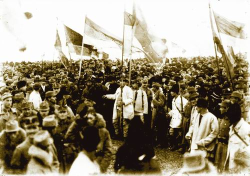 """Autor: Samoilă Mârza: """"Alba Iulia, 1 decembrie 1918. Mulţimile venite la Marea Adunare Naţională."""" Wikipedia"""