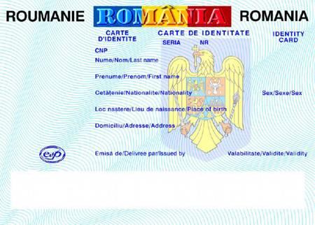 Carte de identitate româneasca: specimen