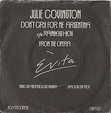 Dont cry for me argentina julie covington uk vinyl single.jpg