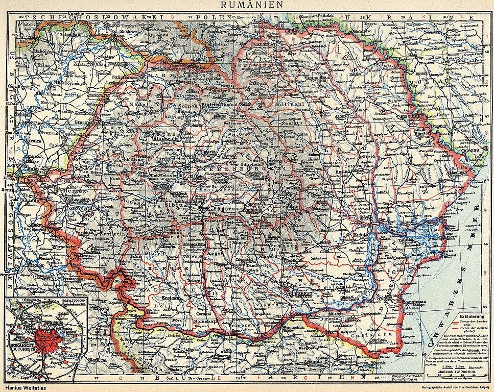 Fișier Romania Mare Judete Si Regiuni Istorice Jpg Wikipedia