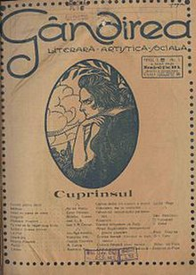 Coperta primului numar al revistei Gândirea