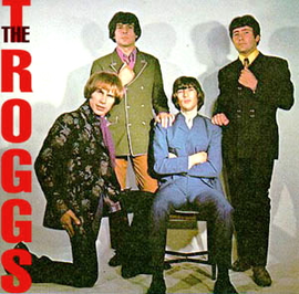 The Troggs ( de la stânga la dreapta: Chris Britton, Pete Staples, Ronnie Bond, Reg Presley)
