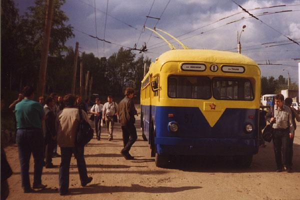 Музейный троллейбус МТБ-82