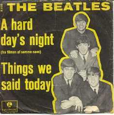 Обложка сингла The Beatles «Things We Said Today» (1964)