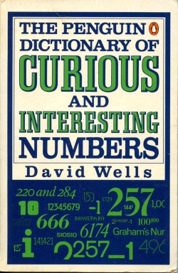 Cover of 'The Penguin Dictionary of Curious and Interesting Numbers' (first edition).jpg