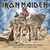 Обложка альбома Iron Maiden «Somewhere Back In Time: The Best of 1980–1989» (2008)
