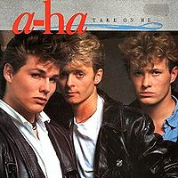 Обложка сингла «Take on Me» (a-ha, 1985)