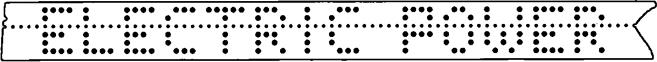 Перфолента со специально подобранной комбинацией кодов, имитирующей понятный текст