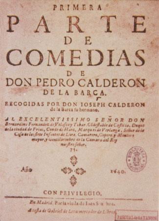 Титульный лист сборника комедий Кальдерона (Мадрид, 1640г.)