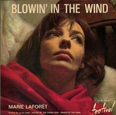 Обложка сингла Мари Лафоре «Blowin' in the Wind» (1963)