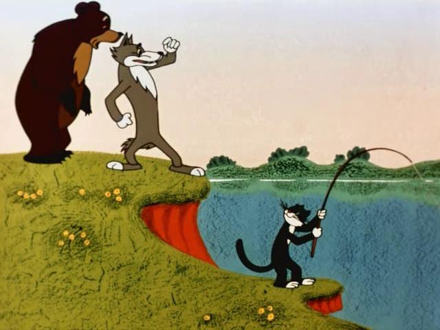 Скачать мультфильм как кот рыболов