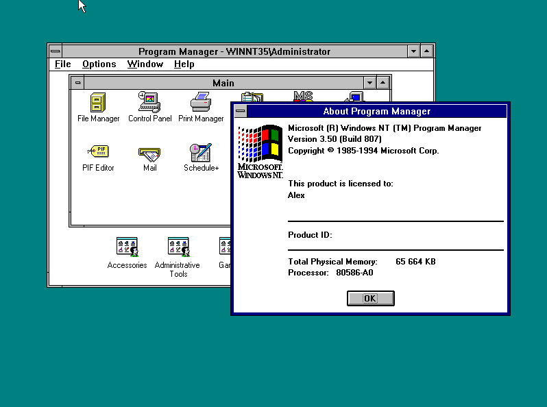 Windows nt 3 5 for Window 3 nmat