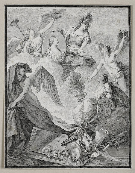 """""""The Apotheosis of Catherine II"""". Unknown artist. Early 19th century."""