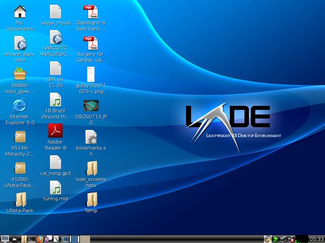 Скриншот LXDE