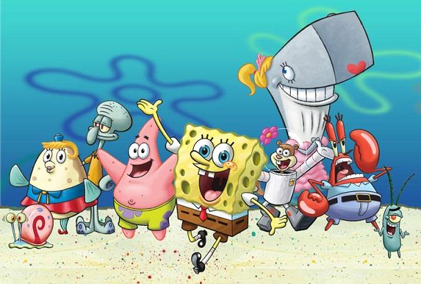 файл Spongebob Squarepants Characters Cast Png википедия