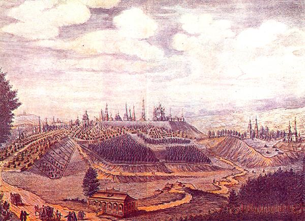 Вид города Владимира от Москвы