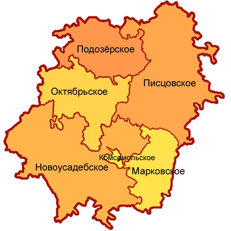 Комсомольский район на карте