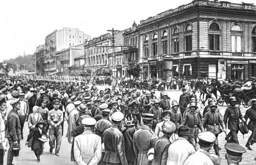 Германские интервенты вступают в Киев. 1 марта 1918