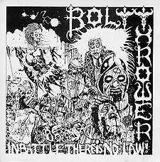 Обложка альбома Bolt Thrower «In Battle There Is No Law» (1988)