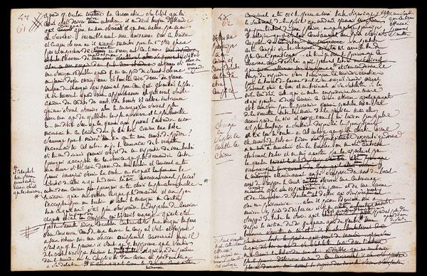 Рукопись «Жюстины», написанная де Садом в Бастилии