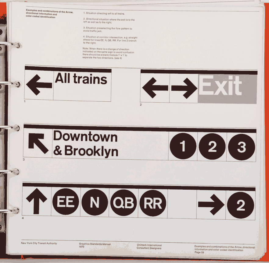 Nyc Transit Authority Graphics Manual P59g