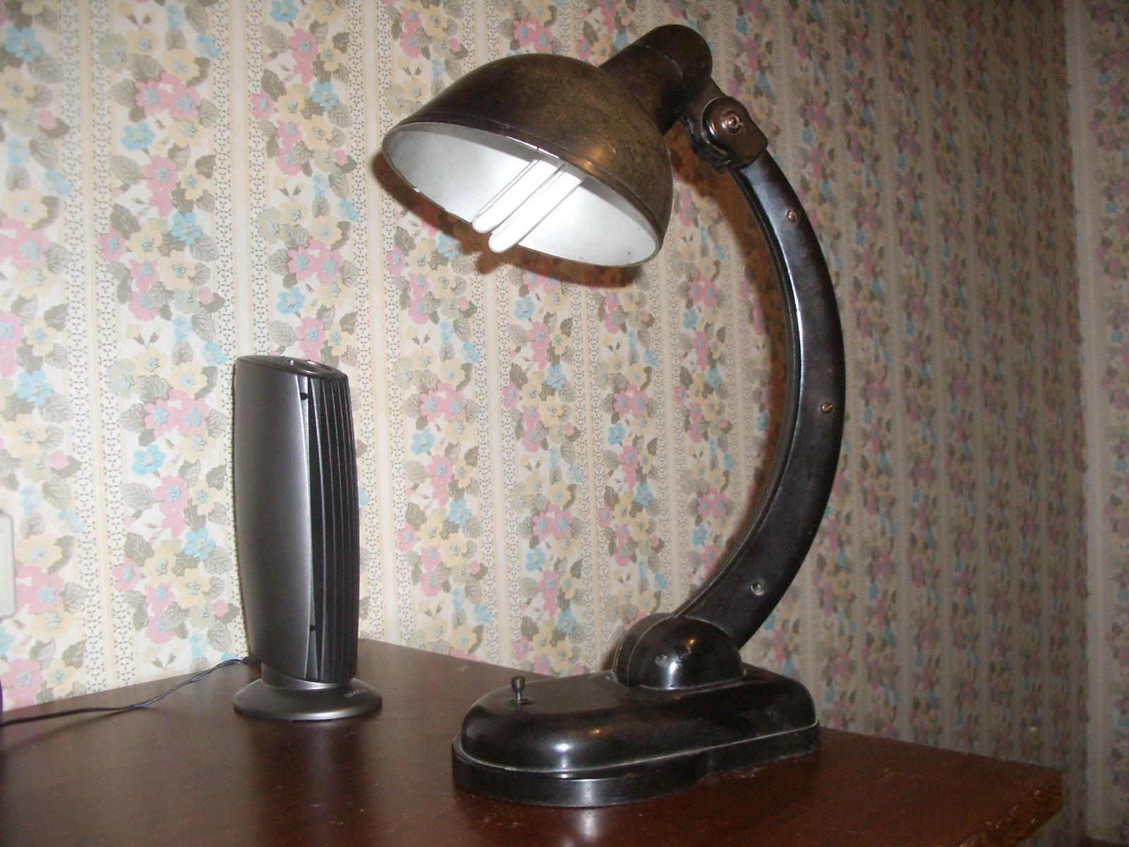 настольная лампа ссср карболит