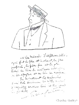 Альфонс Алле, в рисунке Саша Гитри