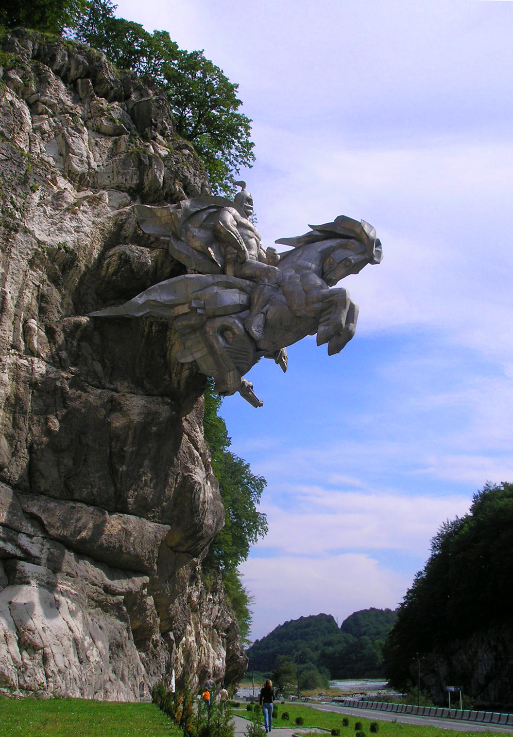 Statue of St. George in North Ossetia