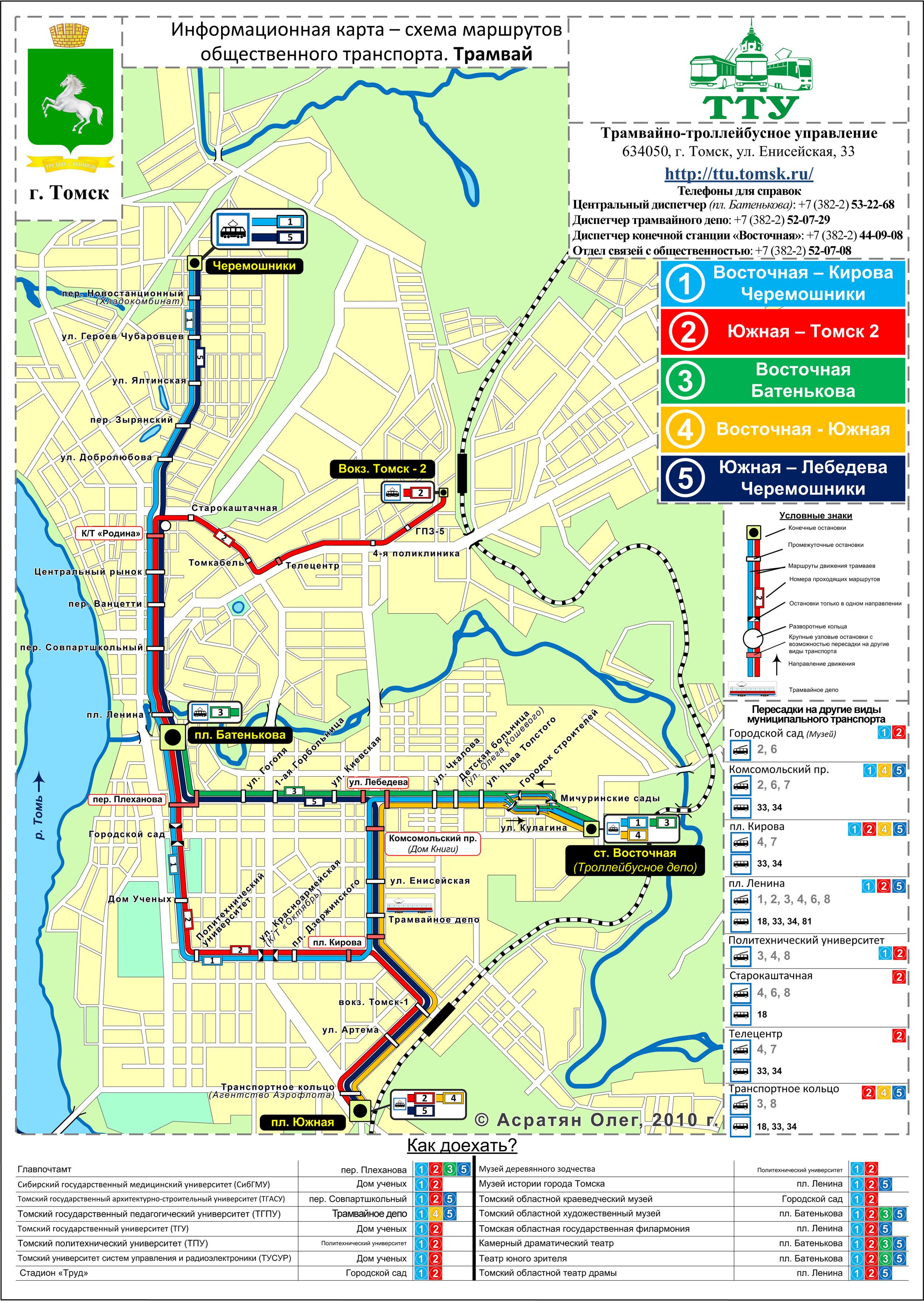 Карта схема маршрутов
