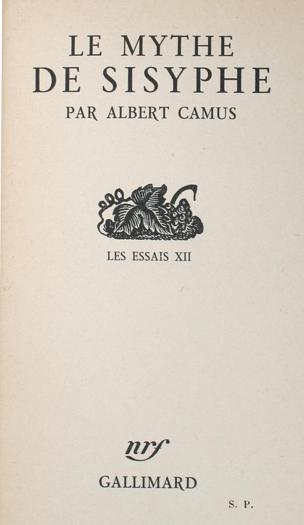 Камю альбер миф о сизифе эссе об абсурде 1533