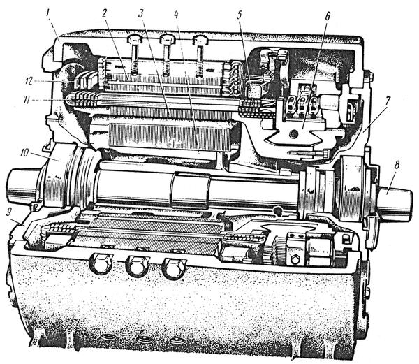 НБ-418К: 1 — остов;