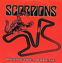 Обложка сингла «Rock You Like a Hurricane» (Scorpions, )