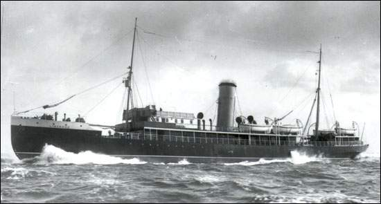 Ледокол-пароход «Линтрос» на службе в «Рид Нюфендлэнд Компани» в период с 1913 по 1915 год.