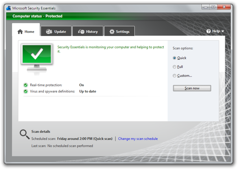 Microsoft Security Essentials обновления - фото 8