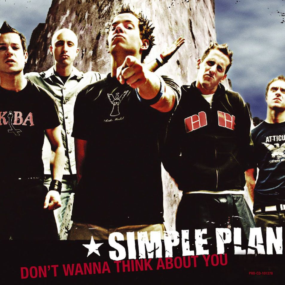 Обложка сингла Simple Plan «Don't Wanna Think About You» (2004)