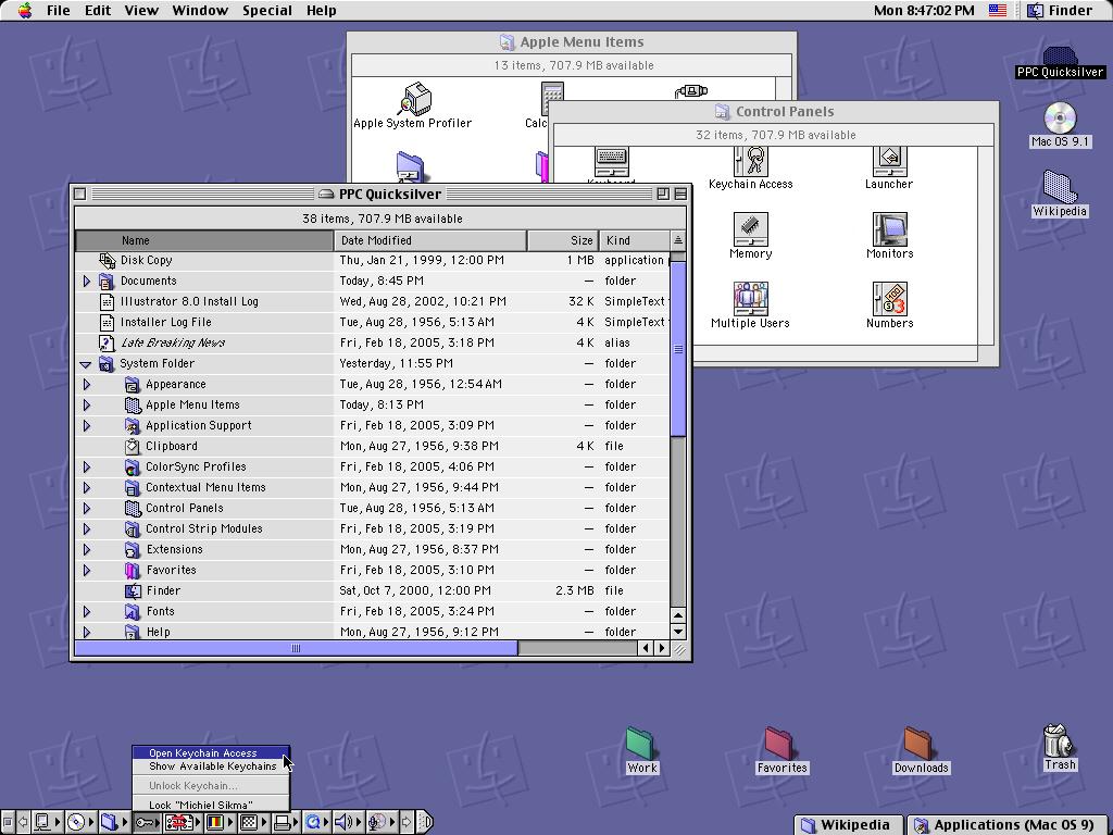Скриншот Mas OS 9