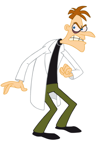 evil cartoon scientist - HD 1111×1600