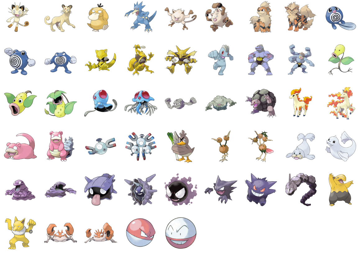 Image Result For First Generation Pokemon