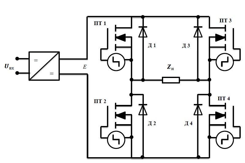 Рис 4 а схема полумостового
