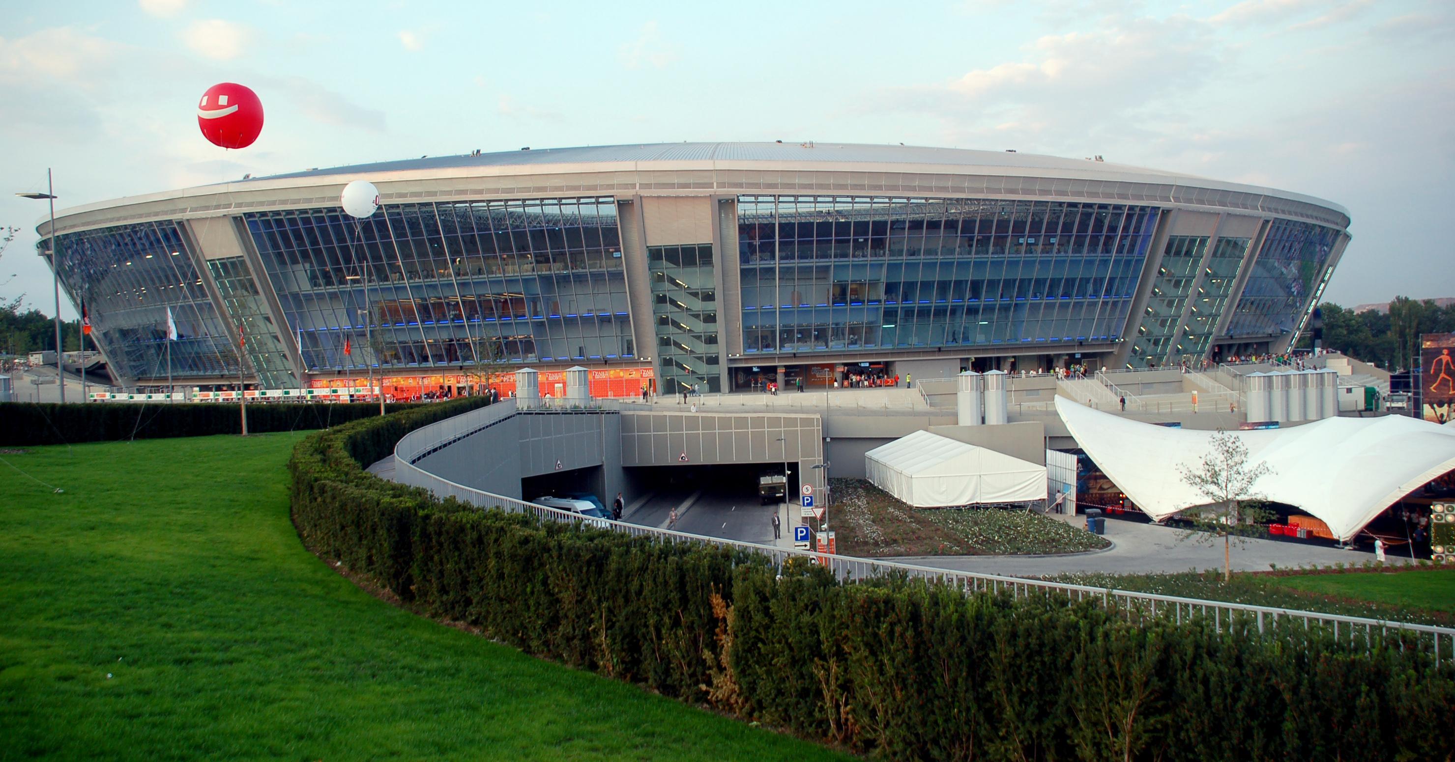 Схема стадиона донецк