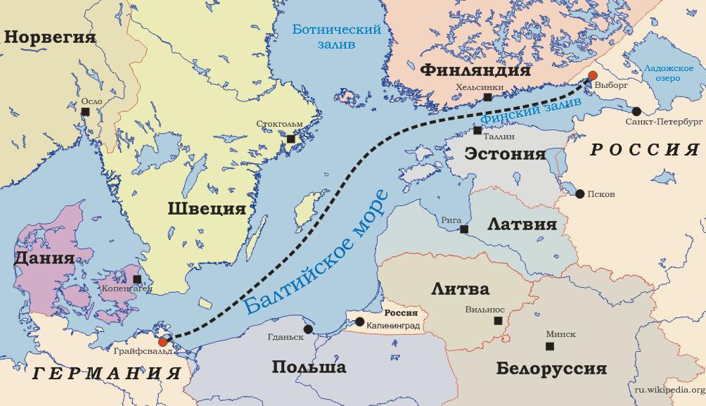 """Схема газопровода """"Северный"""