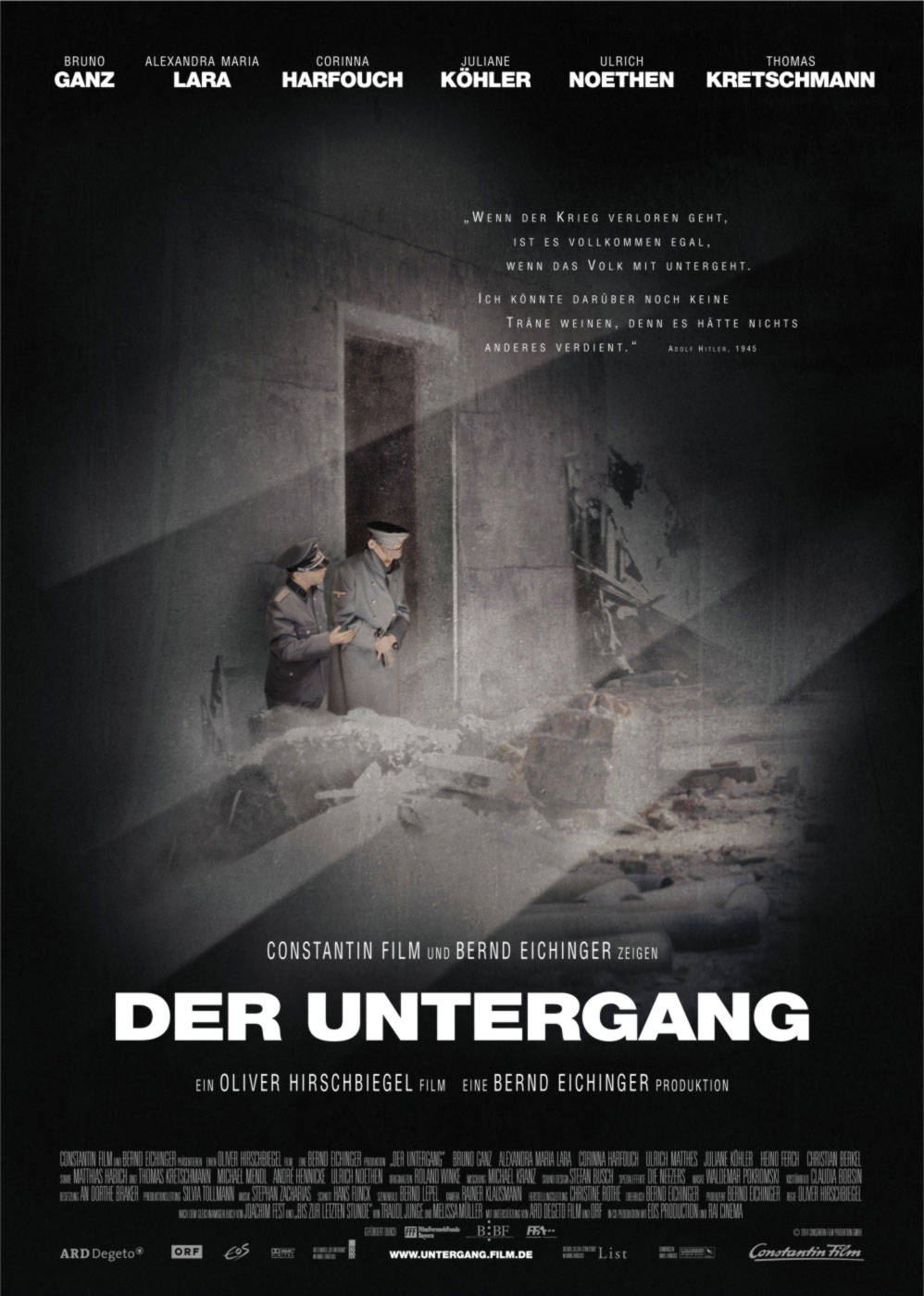 movie review der untergang Reviews counted: 138  as the first german-made film about hitler's ruination  since gw pabst's der  audience reviews for downfall (der untergang) ½.
