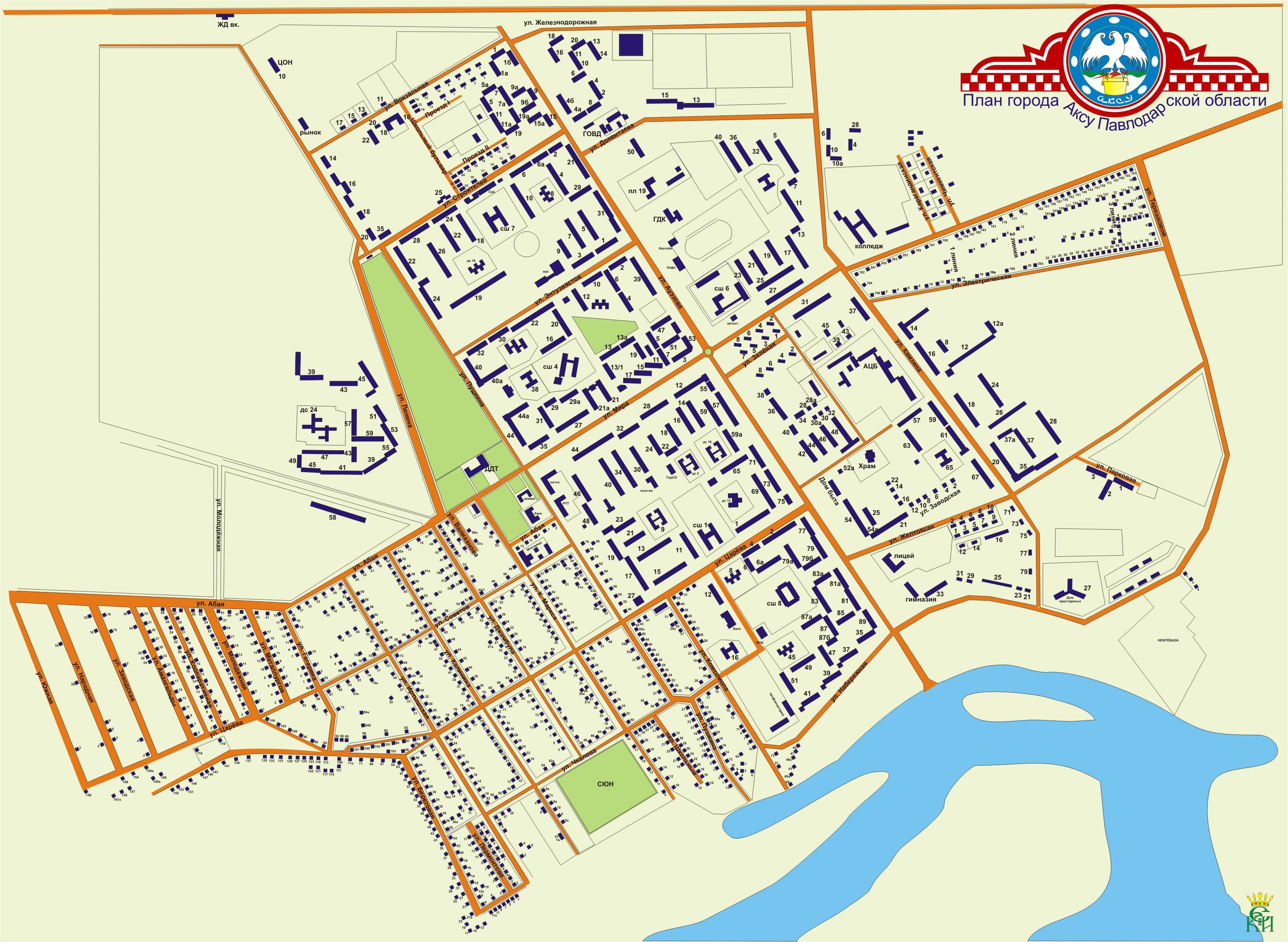 Схема города караганда