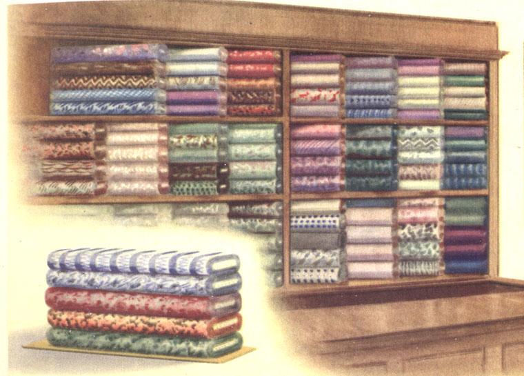 Пример выкладки текстильных