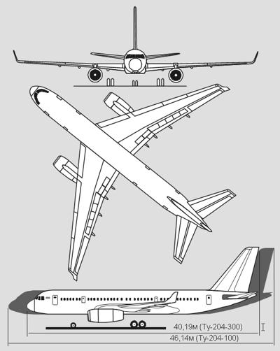 Схема Ту-204