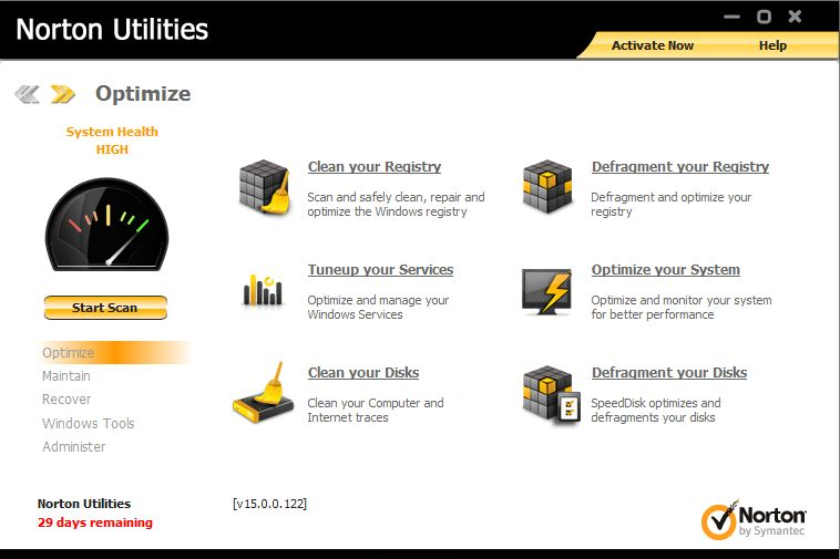 Symantec norton utilities 15.0.0.122 final