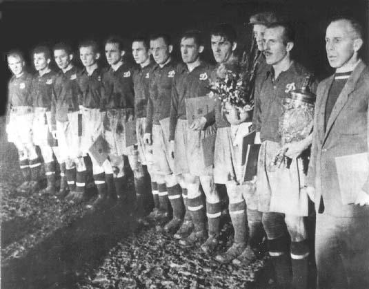 Киевское Динамо со своми первым кубком СССР 1954 год.